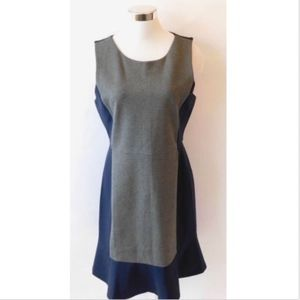 J Crew Ponte Knit Sleeveless Colorblock Dress 12